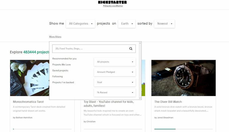 kickstarter upcomingprojects